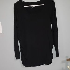 Long sleeve black maternity top